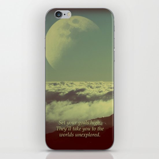 Set Your Goals High iPhone & iPod Skin