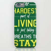 iPhone & iPod Case featuring The Hardest Part Of Living by Catherine Boland