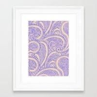 Paisleys Framed Art Print