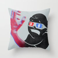 Now in Eye-Popping 3D! Throw Pillow