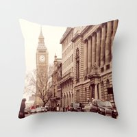 London Girl Throw Pillow