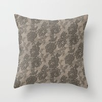 VINTAGE LACE I Throw Pillow
