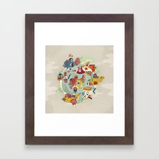 The other side of another sun Framed Art Print