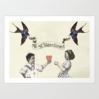 To My Valentine Art Print