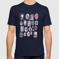 Hang Ups Mens Fitted Tee Navy SMALL