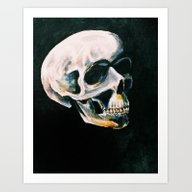 Art Print featuring SKULL by Gabrielle Wall