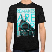 Movie Remakes Mens Fitted Tee Tri-Black SMALL