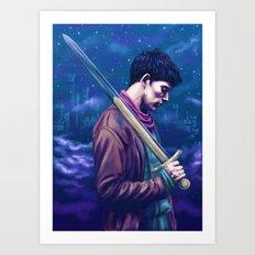 His name....Merlin Art Print