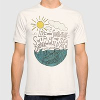 Emerson: Live in the Sunshine Mens Fitted Tee Natural SMALL