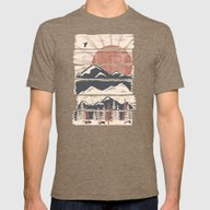 Winter Pursuits... Mens Fitted Tee Tri-Coffee MEDIUM