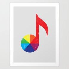 Music Theory Art Print
