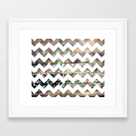 Afterparty Chevron Framed Art Print