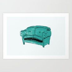 Hungry Couch Art Print