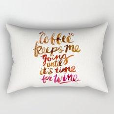 Coffee & Wine – Brown & Magenta Ombré Rectangular Pillow