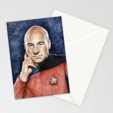Captain Picard Portrait Stationery Cards