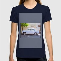 Indian Ambassador Car In… Womens Fitted Tee Navy SMALL