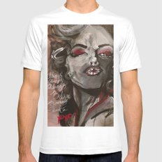 Marilyn Monroe XOXO Mens Fitted Tee White SMALL