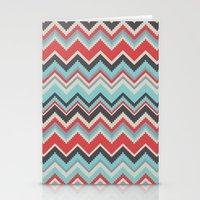 Aztec Chevron Pattern- G… Stationery Cards