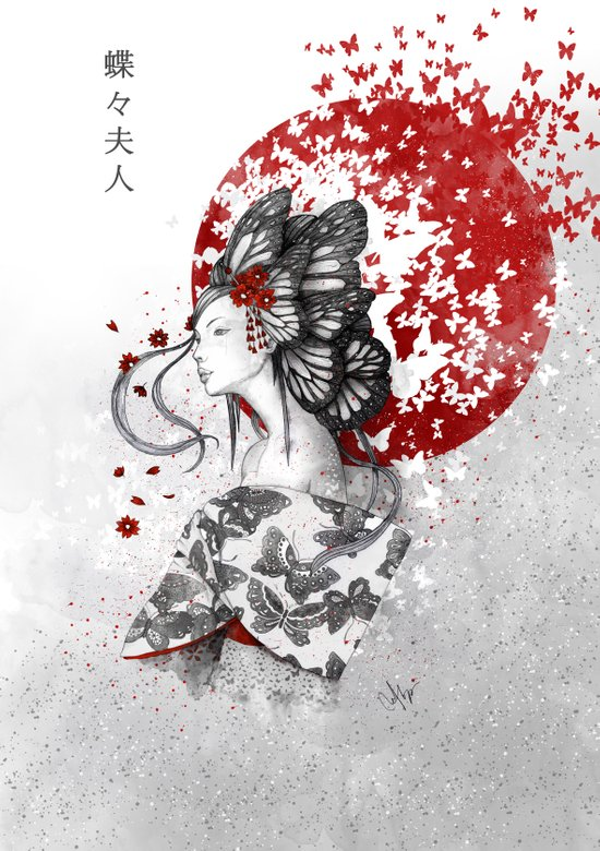 Madame Butterfly Canvas Print