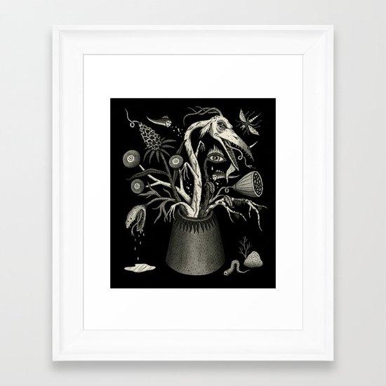 Fierce Bouquet Framed Art Print