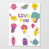 Love Fun Canvas Print