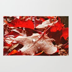 Autumn red Rug