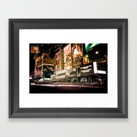 Lights On Broadway Framed Art Print