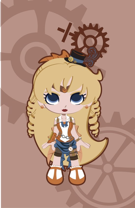 Steampunk Sailor Venus - Sailor Moon Art Print