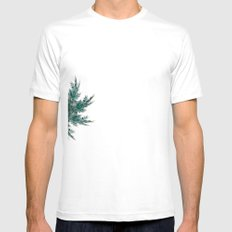 Fractal mandala Mens Fitted Tee SMALL White