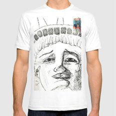 Liberty White Mens Fitted Tee SMALL