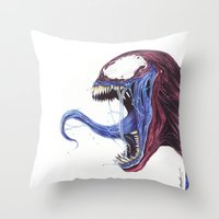 Venom Turned Spider Man Throw Pillow
