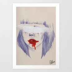 Damaged hearts Art Print