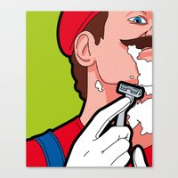 The secret life of heroes - MarioHair Canvas Print