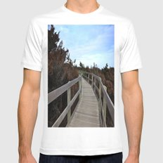 path Mens Fitted Tee SMALL White