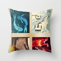 Original Bending Masters Series Throw Pillow