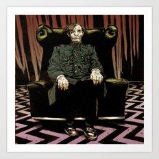 Behind the Curtain Art Print