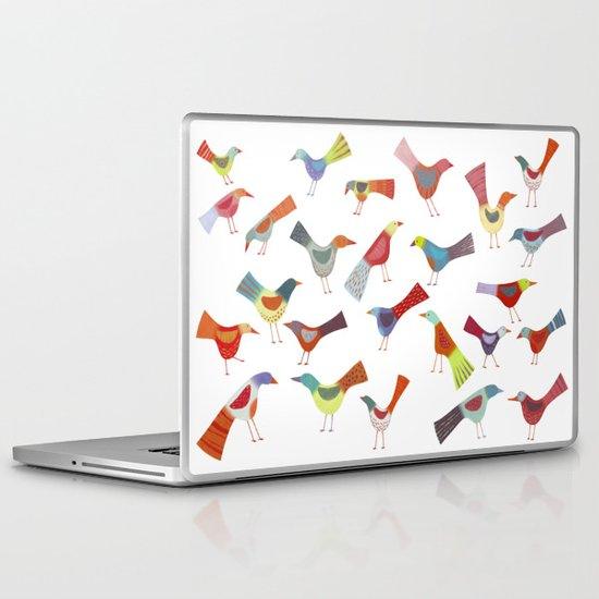 Birds doing bird things Laptop & iPad Skin