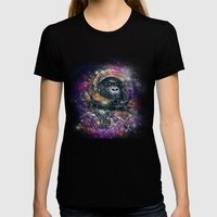 deep space monkey Womens Fitted Tee Black SMALL