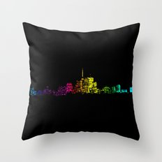 Toronto Skyline Gradient Throw Pillow