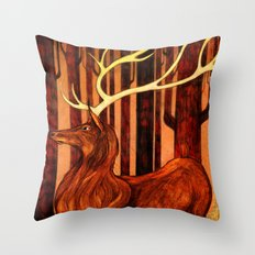 La Majesté du Cerf (The Proud Stag) Throw Pillow