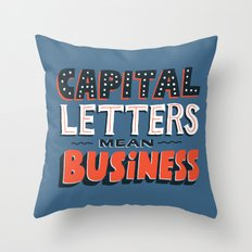 Business Throw Pillow