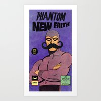 Phantom Moustache Art Print
