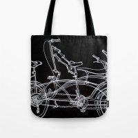 White Bikes Tote Bag