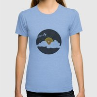 Sunburst Records Womens Fitted Tee Athletic Blue SMALL