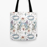 Narwhal pattern Tote Bag
