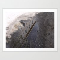 Youth Hostel found in a Puddle Art Print