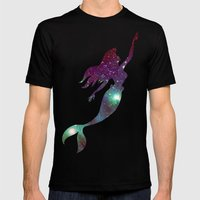 The Little Mermaid Cosmi… Mens Fitted Tee Black SMALL