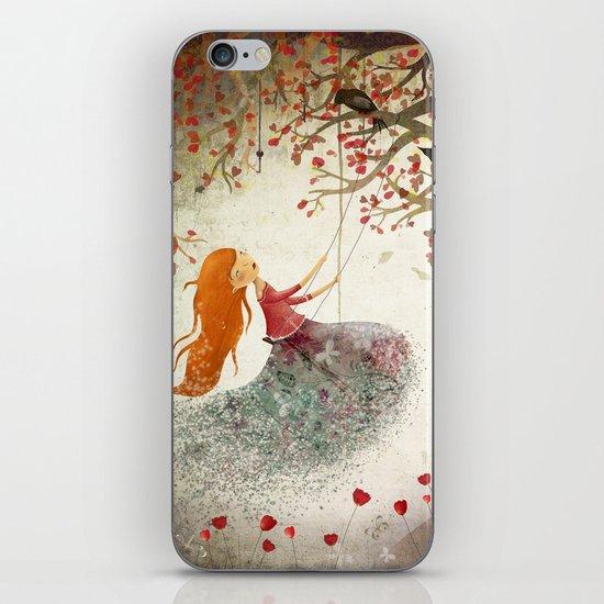 Swinging girl iPhone & iPod Skin