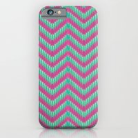 iPhone & iPod Case featuring Hot Pink & Mint by Rittsu