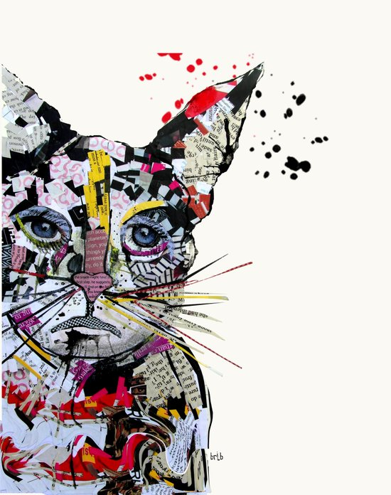 urban kitten Art Print